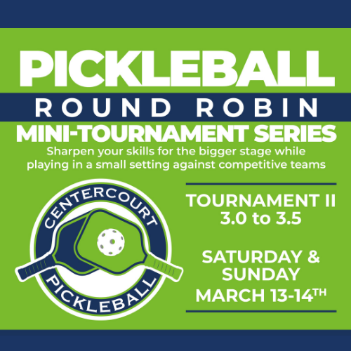 3.0 & 3.5 Pickleball Mini Tournament