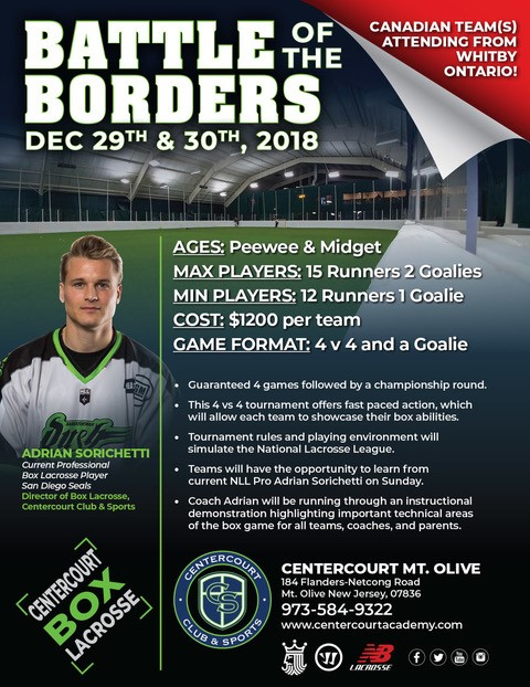 Mt. Olive Box Lacrosse - Battle of the Borders